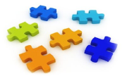 Image of separated puzzle pieces.
