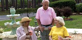 Seniors relax with lemonade and each other's company in Retirement Living.