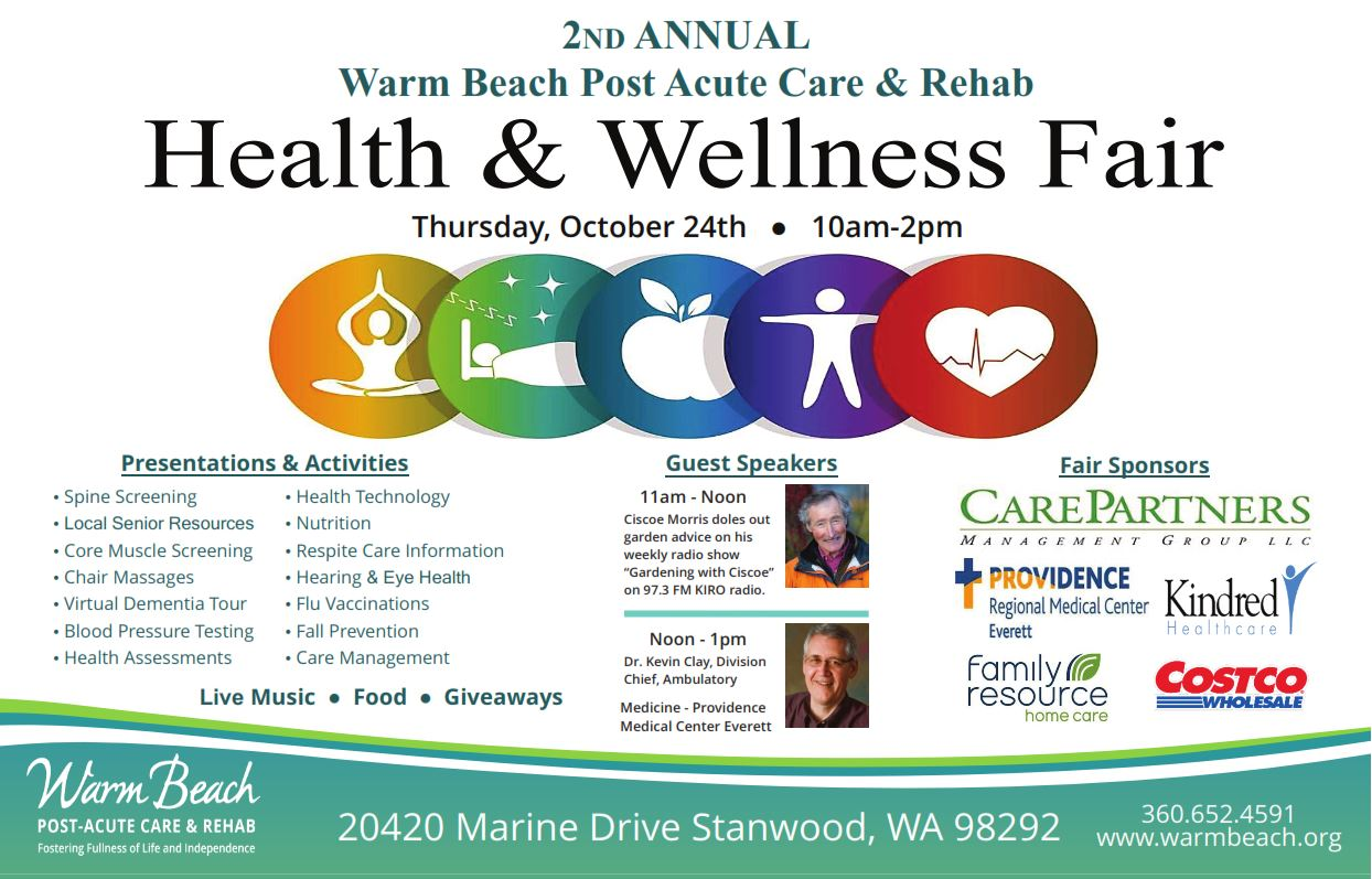 Health & Wellness Fair @ Warm Beach Post Acute Care & Rehab